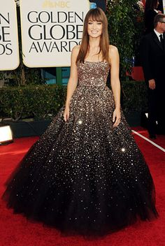Olivia Wilde Golden Globes 2011 - the dress reminds me of a starry night