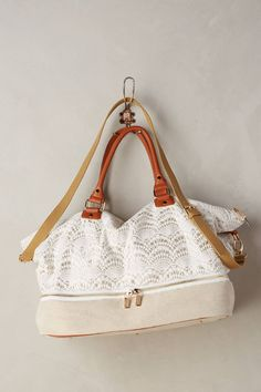 at anthropologie Fanned Lace Weekender