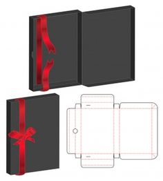 Box packaging die cut template for print Vector Diy Gift Box, Diy Box, Box Packaging, Packaging Design, Box Patterns, Vintage Logo Design, Logo Restaurant, Craft Box, Vintage Labels