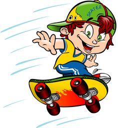 "Photo from album ""Скейтборд"" on Yandex. Skateboard Vector, Skateboard Art, Cartoon People, Cartoon Kids, Clipart Boy, Learn To Sketch, Boy Images, Rock Art, Views Album"