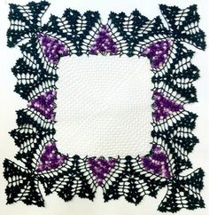 Vintage Doily Pattern | Picture of Vintage Square Grape Doily Crochet Pattern