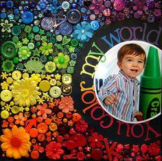 You Color My World - Scrapbook.com  #layout #embellishments #scrapbooking