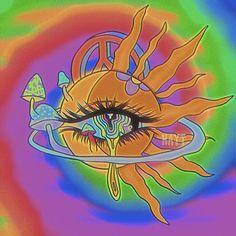 Indie Drawings, Trippy Drawings, Psychedelic Drawings, Art Drawings, Hippie Painting, Trippy Painting, Painting & Drawing, Arte Indie, Indie Art