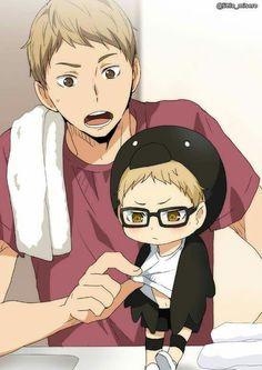 Tsukishima y su hermano UwU
