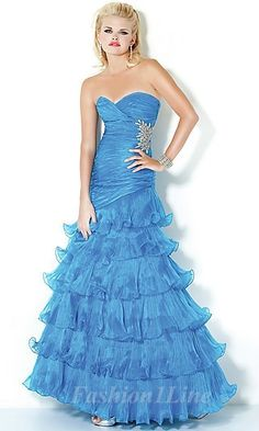 strapless sleeveless dress <3