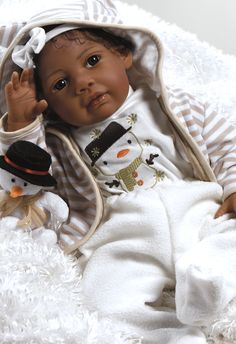 """African American Baby Doll, Kione, 20"""" GentleTouch Vinyl, Weighted Body 99,95"""