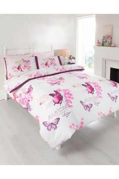 Parisienne Butterflies Duvet Set - Double