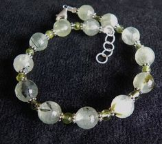 Adjustable Faceted Prenite Sterling Silver by Created2Inspire, $75.00