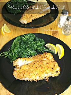 Panko Crusted Baked Cod Fish gives the fish a nice crunch while keeping the fish moist and flaky