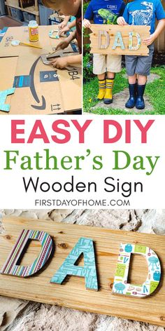 This DIY Father's Day sign is easy enough for the kids to make! With just a few supplies, you can make this sign in minutes! #diy #decoupage #modpodge #crafts #fathersday Diy Decoupage Projects, Vinyl Projects, Mason Jar Crafts, Mason Jar Diy, Christmas Vinyl, Diy Holiday Gifts, Father's Day Diy, Giant Paper Flowers, Fathers Day Crafts