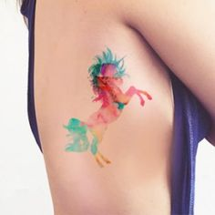 http://www.tttattoo.com/en/tattoo-summertime/426-unicorn-watercolor-tattoo.html | Beautiful Cases For Girls