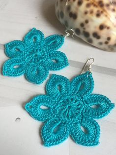 Tender flowery earrings, crochet earring pattern, awesome shape and eye-catching color. Easy tutorial for beginners Tender flowery earrings, awesome shape and eye-catching color. PDF PATTERN ONLY! Easy tutorial f Crochet Earrings Pattern, Crochet Jewelry Patterns, Crochet Accessories, Crochet Designs, Crochet Necklace, Crochet Gifts, Crochet Flowers, Form, Crochet Projects