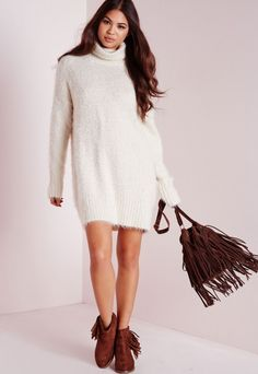 Women's Fluffy Oversized Polyester Jumper