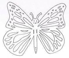 Model papallona per fer tapa Tapas, Arts And Crafts, Paper Crafts, Spring Theme, Papercutting, Eric Carle, Chenille, Coloring Pages, Stencils