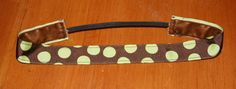 Sweaty Betty Band brown with large green polka by KenaKreations, $8.00