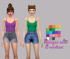 Simsworkshop: Romper  2 versions by maimouth • Sims 4 Downloads