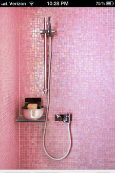No boys allowed in my pink shower