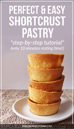 This is my goto recipe for shortcrust pastry It's super quick and in a few moments you have a crisp, golden, buttery piece of heaven! Easy Pastry Recipes, Pie Crust Recipes, Tart Recipes, Sweet Recipes, Baking Recipes, Cookie Recipes, Dessert Recipes, Easy Shortcrust Pastry Recipes, Pastry Dough Recipe