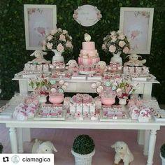 mesa de dulces para bautizoniña Baby Girl Baptism, Baptism Party, Bautizo Niño Ideas, Cake Table, Dessert Table, 1st Birthday Girls, Birthday Parties, Birthday Ideas, Butterfly Wedding Theme