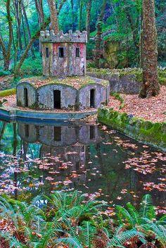Jardín del Palacio da Pena, en Portugal.