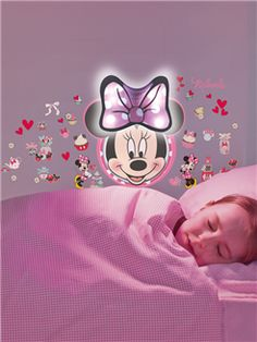 Minnie Mouse Safe n Sound Lumiglow Comfort Light and Wall Stickers - A magical Minnie Mouse sound activated light that sticks to the wall