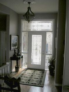 Interior, Enchanting Foyer Interior Ideas With Black White Carpet With  White Door Make Door Feel Large: Surprising Foyer Ideas