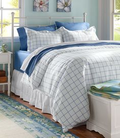 Find the best Pima Cotton Percale Comforter Cover Collection, Windowpane at L. Our high quality home goods are designed to help turn any space into an outdoor-inspired retreat. Duvet Bedding Sets, Comforter Cover, Comforters, Bedspreads, Duvet Covers, Nautical Bedroom, Bedroom Decor, Bedroom Ideas, Master Bedroom