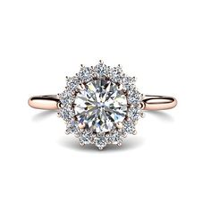 1ct Diamond Engagement Ring Conflict Free Diamond by RareEarth, $5547.00 would love this in white gold
