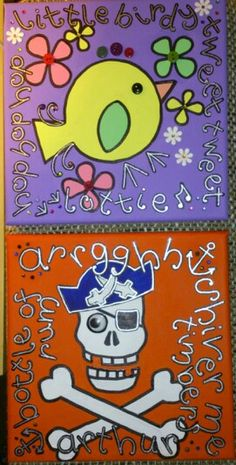 Door plaque canvases