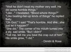 Vampire Academy Quotes | Dimitri & Rose | he is awesome!