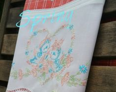 On Sale Vintage Towels Recycled and Repurpose by TwoGirlsLaughing