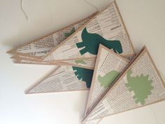 For library- book pages.then seasonal or themed shape cut outs (dr. Seuss hat, etc)make for banners Fourth Birthday, Dinosaur Birthday Party, Boy Birthday, Festa Jurassic Park, The Good Dinosaur, Baby Party, First Birthdays, Party Time, Cut Outs