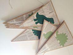 Guirnalda de dinosaurios para fiesta infantil