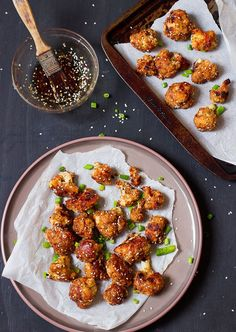 These Sticky Sesame Vegan Cauliflower Wings are the best veggie wings I've ever had! Loaded with a maple sesame flavor and spice, they are the perfect game day snack for vegans!