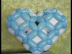 GLOBOS CORAZON 3D CON MEGALEX 2/3... 3D HEART