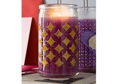 5 Minute Craft Gold Glitter Candle