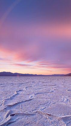 DEAD SEA SNOW SUNSET MOUNTAIN NATURE FLARE WALLPAPER HD IPHONE