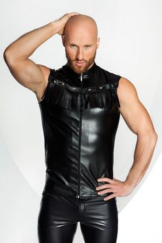 Leather Men, Leather Pants, Biker, Boutique Lingerie, Sexy Men, Sexy Guys, Clubwear, Crop Tops, Stylish
