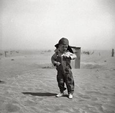 """Son of farmer in dust bowl area. Cimarron County, Oklahoma."" April 1936"