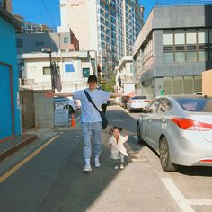 Baby Girl And Dad, Father And Baby, Baby Boy, Cute Asian Babies, Korean Babies, Cute Babies, Ulzzang Kids, Ulzzang Couple, Cute Family