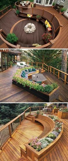 21 Creative Deck Ideas That Inspire Al Fresco Living Real Home Inspiration: backyard creations deck box to inspire you Built In Seating, Built In Bench, Extra Seating, Seating Areas, Deck Seating, Backyard Seating, Outdoor Seating, Garden Seating, Wall Seating