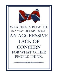 wearing a bow tie