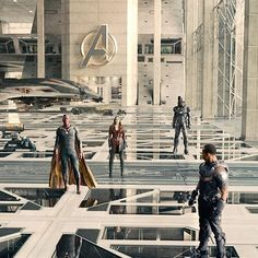 Falcon , Vision , Scarlet Witch , and War Machine in The Avengers : Age of Ultron New Avengers, Avengers Movies, Marvel Movies, Vision Avengers, Avengers Quotes, Avengers Imagines, Hawkeye, Gi Joe, Hulk