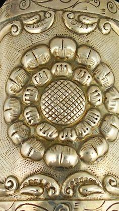 Mexican Silver Cuff Bracelet Detail