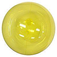 CUSTOM BEACH BALLS TO ORDER - UP TO 10 FEET DIAMETER - 24'' Translucent Yellow Beach Balls