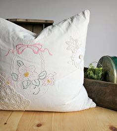 Grannys Attic Pilow Handmade Decorative Pillow by Digvintagesho