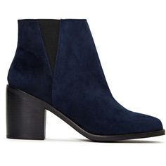 Shellys London Lovenia Boot (255 ILS) ❤ liked on Polyvore featuring shoes, boots, ankle booties, ankle boots, botas, navy blue, short boots, navy blue ankle boots, navy blue bootie and navy ankle boots
