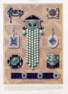 Jewels Art Deco P2 1927 Georges Fouquet, Dusausoy, Jacques Lacloche, Gérard Sandoz, Raymond Templier, Aucoc