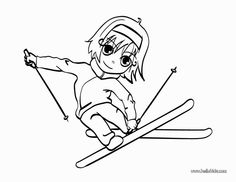 Skiing girl coloring page. Do you like to color online? Enjoy coloring this Skiing girl coloring page with our Coloring machine! Color online this Skiing . Coloring Pages Winter, Sports Coloring Pages, Coloring Pages For Girls, Cool Coloring Pages, Coloring For Kids, Coloring Sheets, Coloring Books, Peppa Pig Coloring Pages, Adult Children