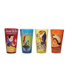 Look at this #zulilyfind! Disney Movie Posters Pint Glass - Set of Four #zulilyfinds